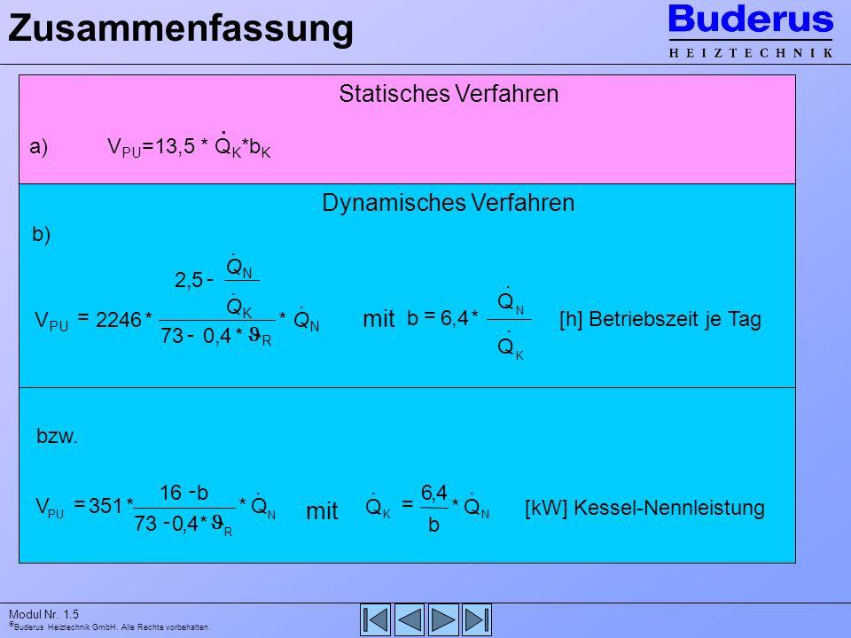 Zusammenfassung Statisches Verfahren Dynamisches Verfahren mit mit