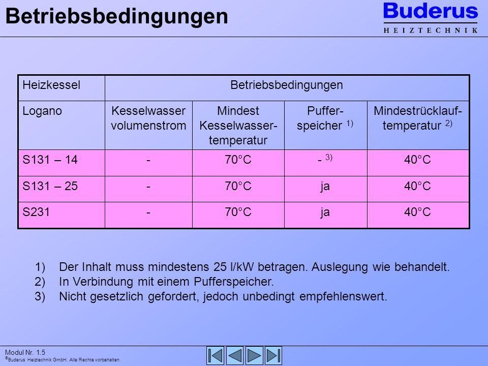 Betriebsbedingungen 40°C ja 70°C - S231 S131 – 25 - 3) S131 – 14