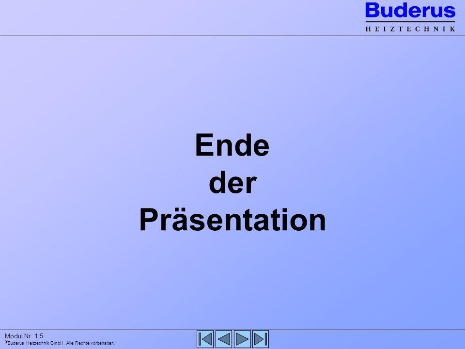 Ende der Präsentation Modul Nr. 1.5