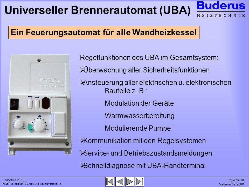 Universeller Brennerautomat (UBA)