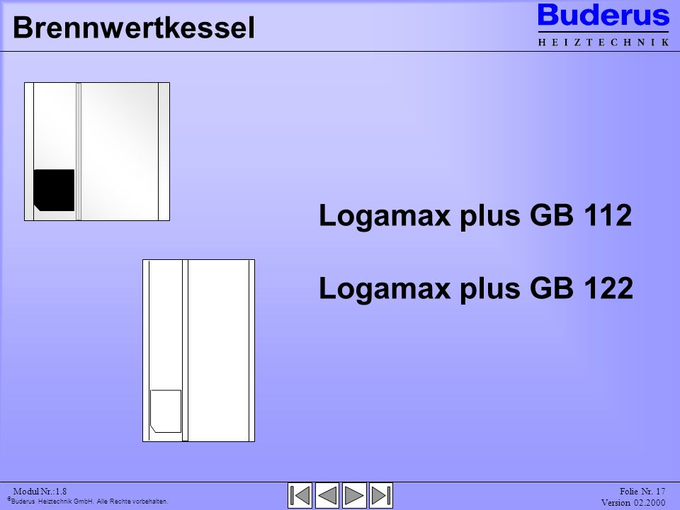 Logamax plus GB 112 Logamax plus GB 122