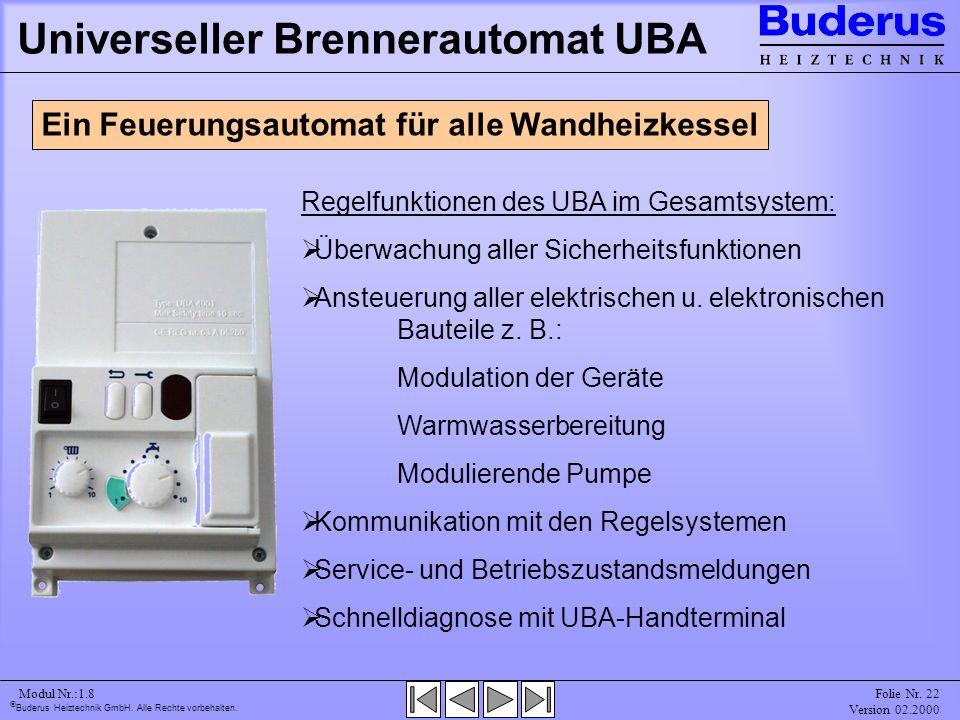 Universeller Brennerautomat UBA