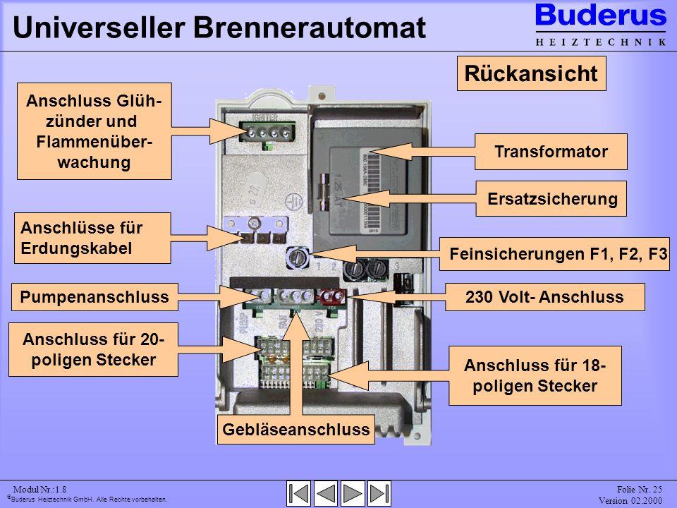 Universeller Brennerautomat