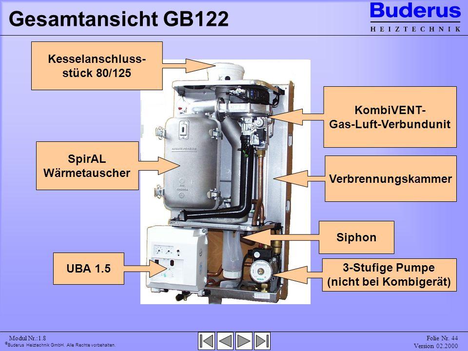 Gesamtansicht GB122 Kesselanschluss-stück 80/125 KombiVENT-