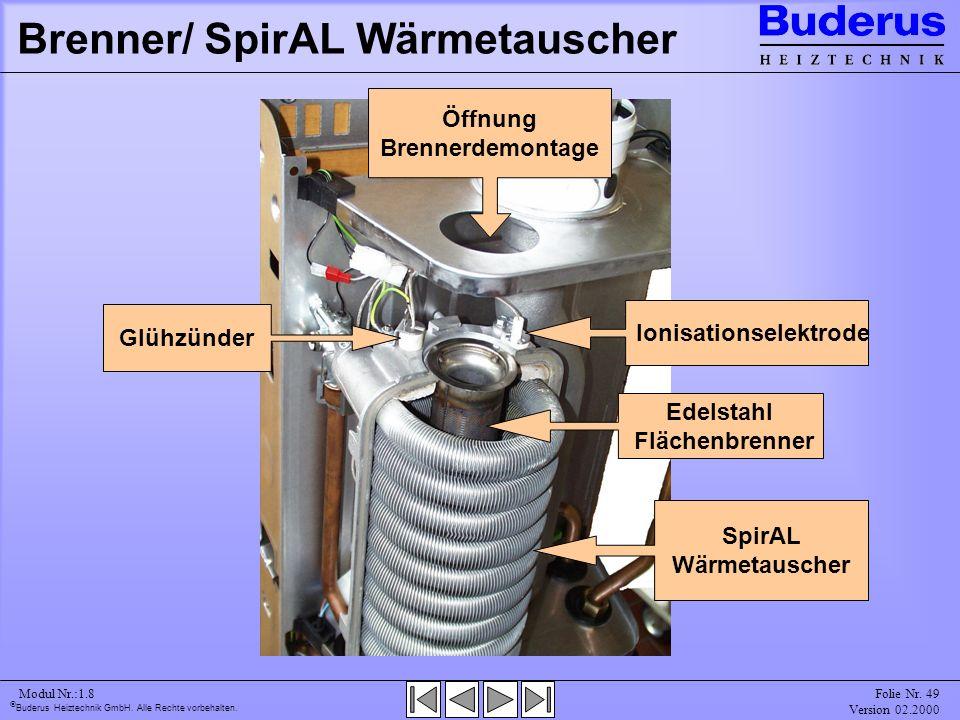 Brenner/ SpirAL Wärmetauscher