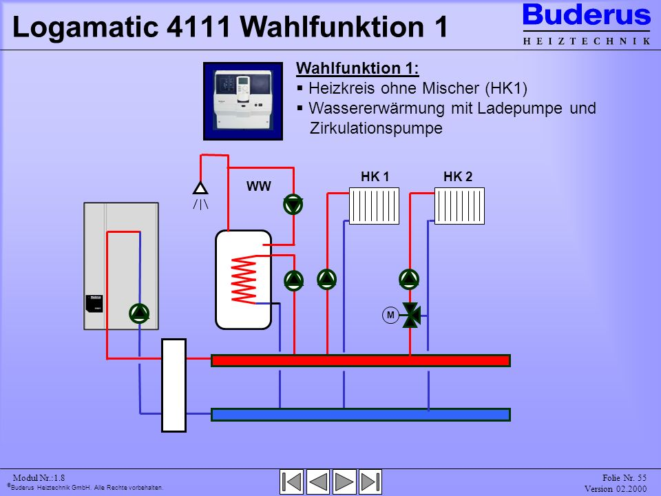 Logamatic 4111 Wahlfunktion 1