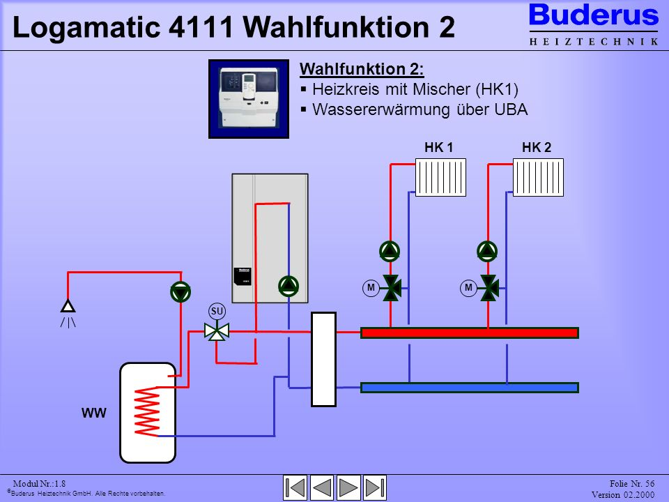 Logamatic 4111 Wahlfunktion 2