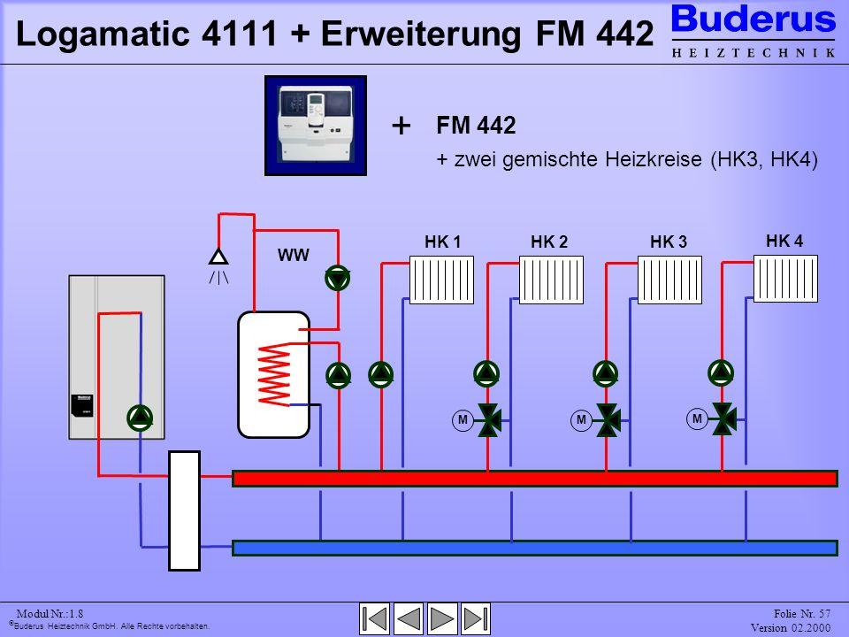 Logamatic 4111 + Erweiterung FM 442