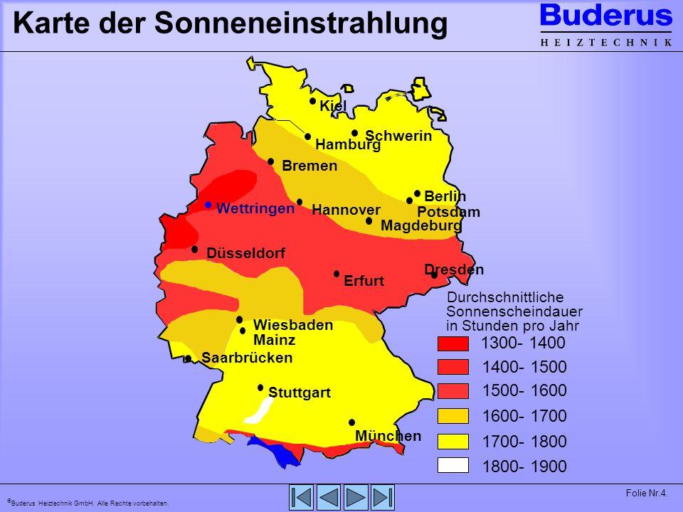 Karte der Sonneneinstrahlung