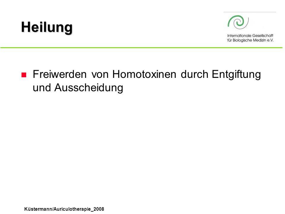 Heilung Freiwerden von Homotoxinen durch Entgiftung und Ausscheidung