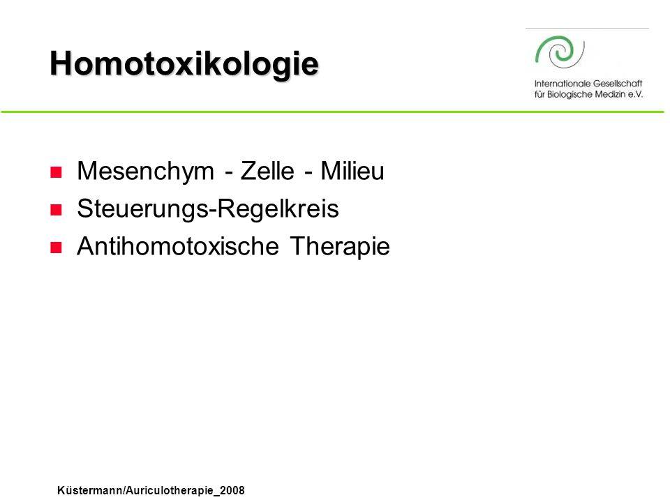 Homotoxikologie Mesenchym - Zelle - Milieu Steuerungs-Regelkreis