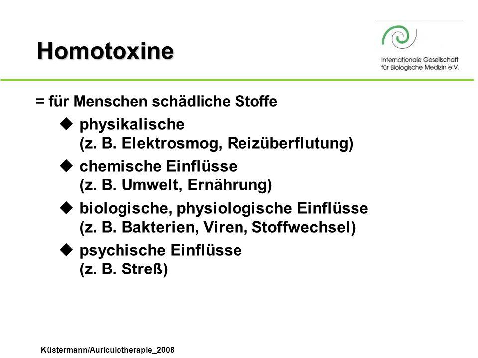 Homotoxine physikalische (z. B. Elektrosmog, Reizüberflutung)