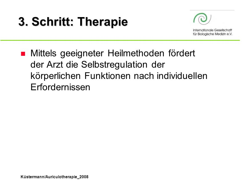 3. Schritt: Therapie