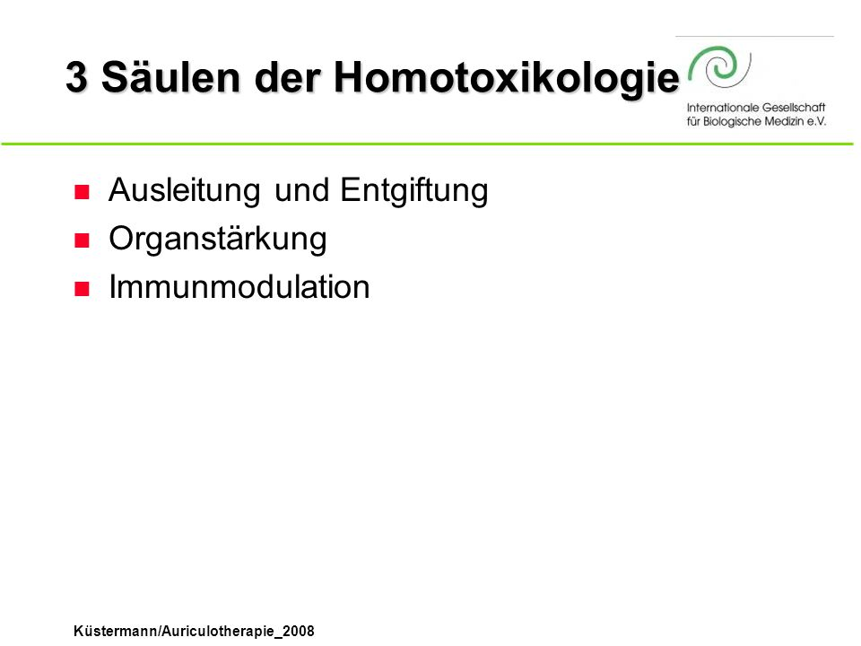 3 Säulen der Homotoxikologie