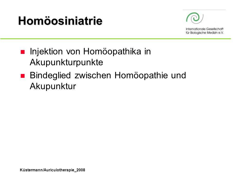 Homöosiniatrie Injektion von Homöopathika in Akupunkturpunkte