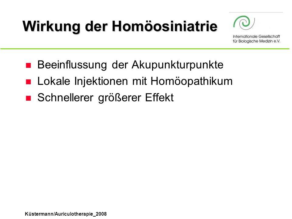 Wirkung der Homöosiniatrie