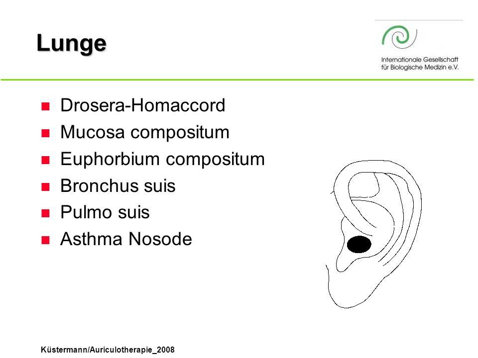Lunge Drosera-Homaccord Mucosa compositum Euphorbium compositum