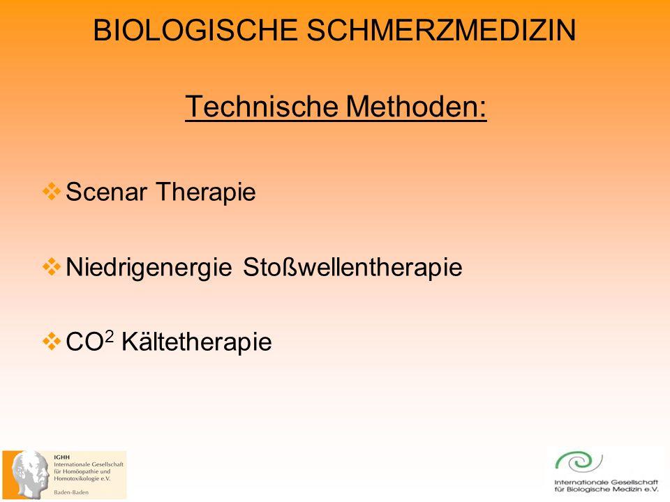 Technische Methoden: Scenar Therapie Niedrigenergie Stoßwellentherapie