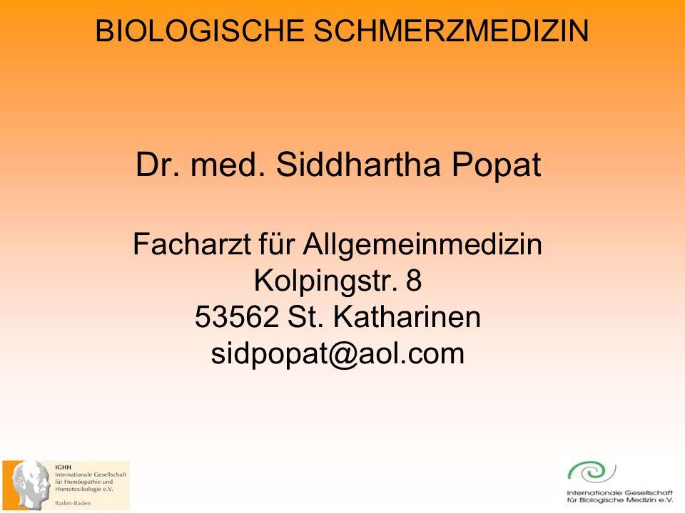 Dr. med. Siddhartha Popat Facharzt für Allgemeinmedizin Kolpingstr