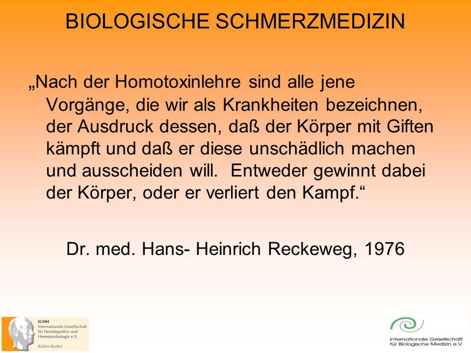 Dr. med. Hans- Heinrich Reckeweg, 1976
