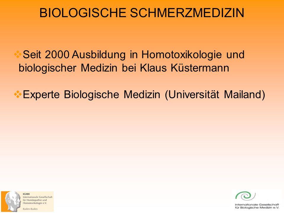 Experte Biologische Medizin (Universität Mailand)