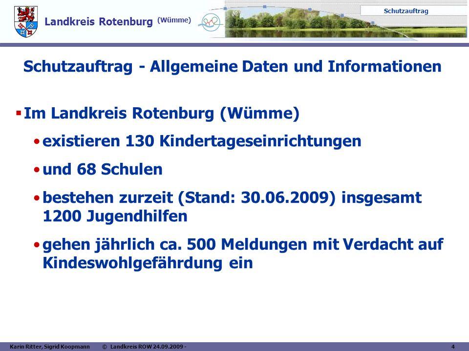 Schutzauftrag - Allgemeine Daten und Informationen
