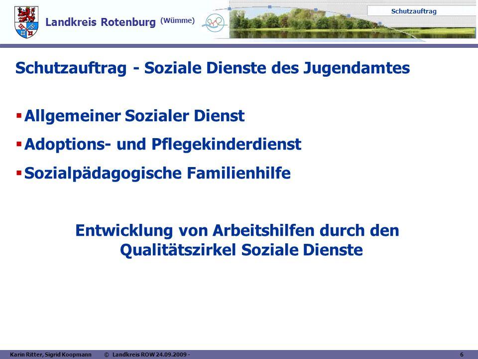 Schutzauftrag - Soziale Dienste des Jugendamtes
