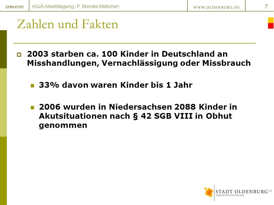 Zahlen und Fakten 2003 starben ca. 100 Kinder in Deutschland an Misshandlungen, Vernachlässigung oder Missbrauch.