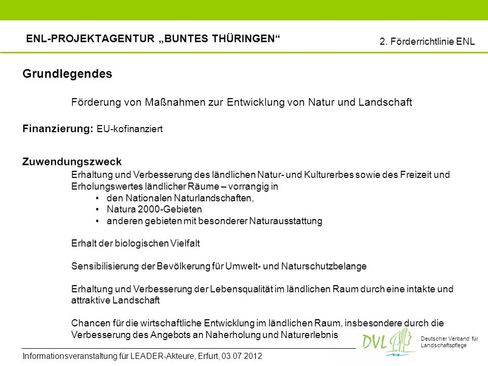 "ENL-Projektagentur ""Buntes Thüringen"