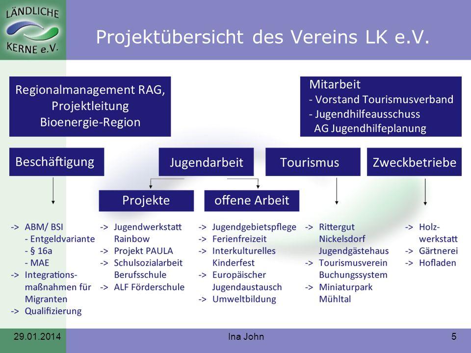 Projektübersicht des Vereins LK e.V.