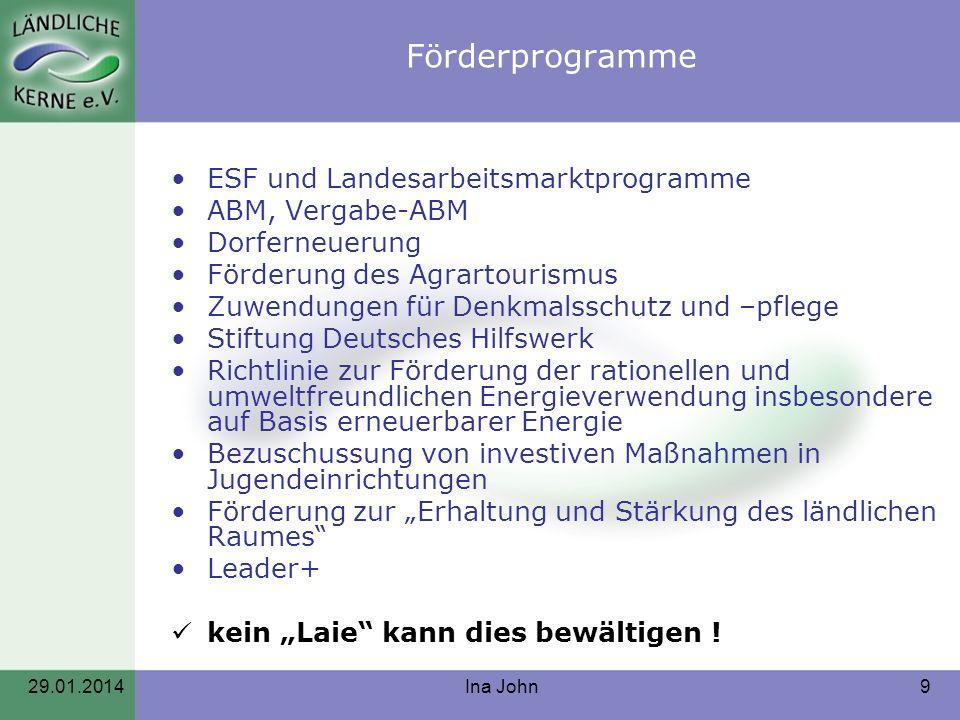 Förderprogramme ESF und Landesarbeitsmarktprogramme ABM, Vergabe-ABM