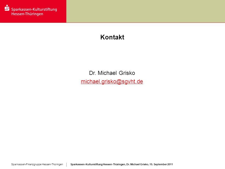 Kontakt Dr. Michael Grisko michael.grisko@sgvht.de