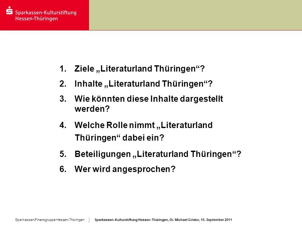 """Ziele """"Literaturland Thüringen"""