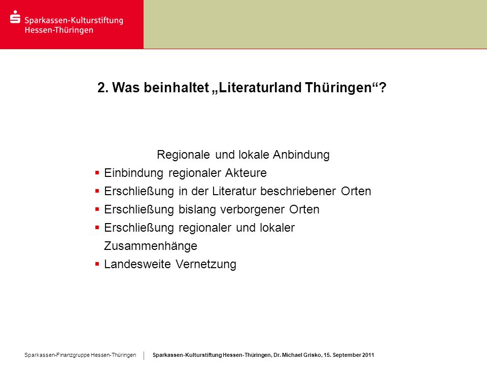 """2. Was beinhaltet """"Literaturland Thüringen"""