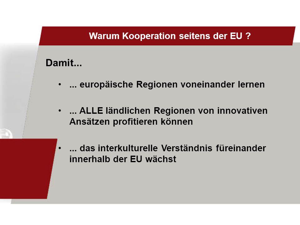 Warum Kooperation seitens der EU