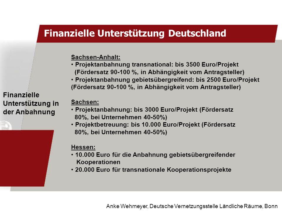 Finanzielle Unterstützung Deutschland