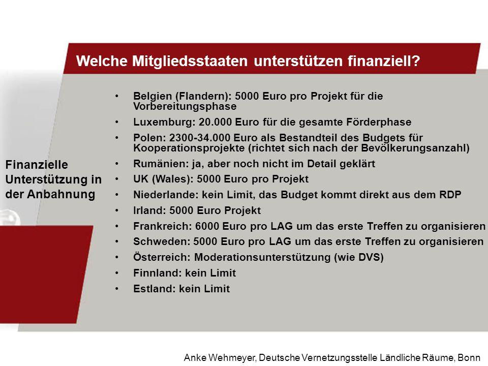 Welche Mitgliedsstaaten unterstützen finanziell