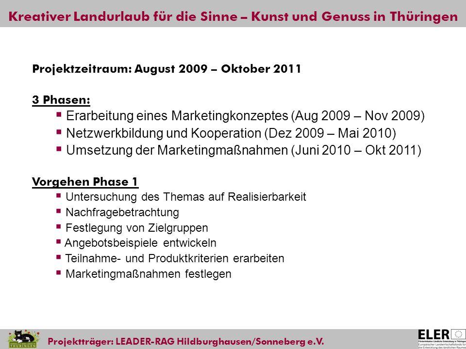 Erarbeitung eines Marketingkonzeptes (Aug 2009 – Nov 2009)