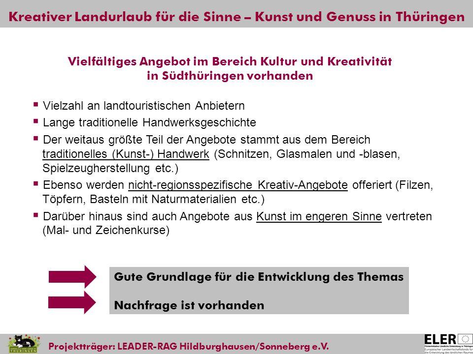 Vielfältiges Angebot im Bereich Kultur und Kreativität in Südthüringen vorhanden