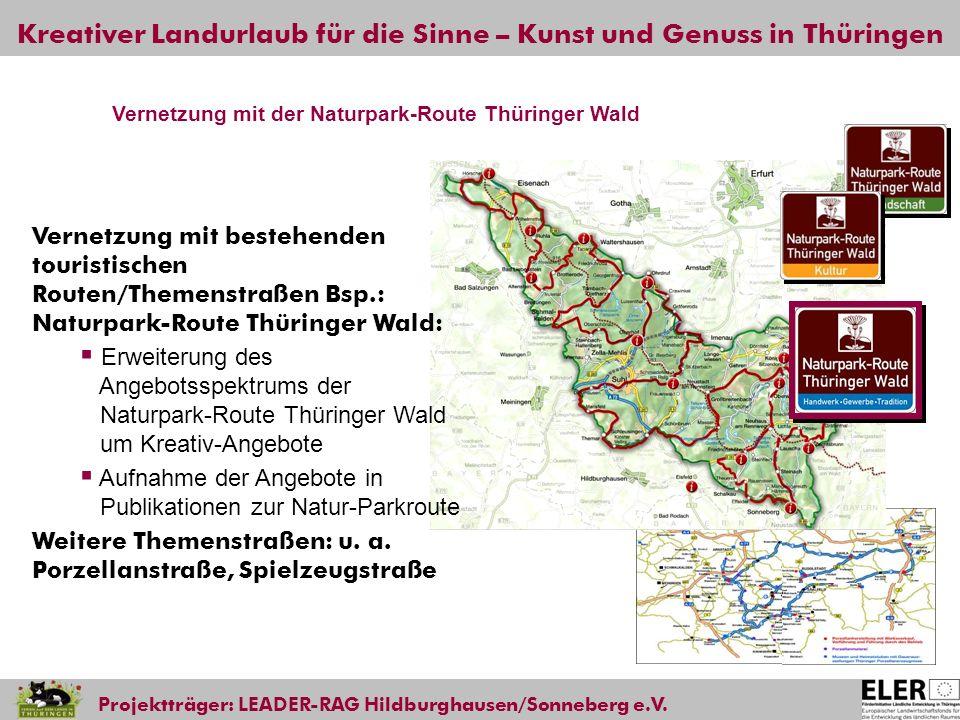 Vernetzung mit der Naturpark-Route Thüringer Wald