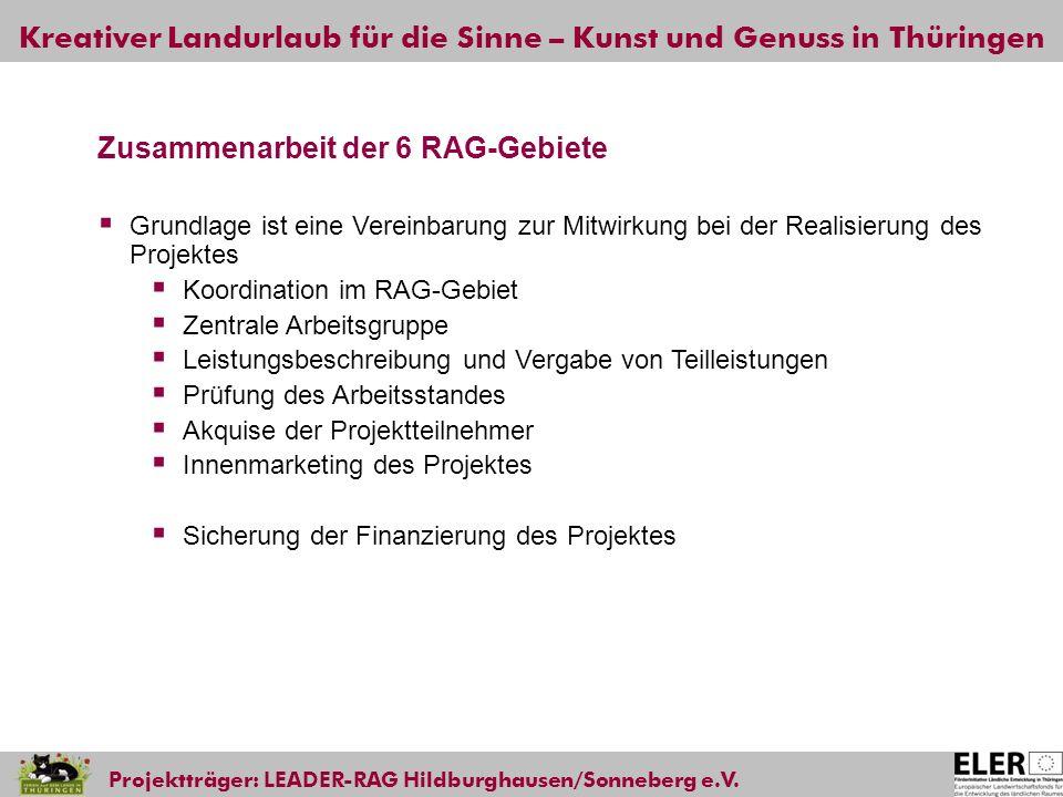 Zusammenarbeit der 6 RAG-Gebiete