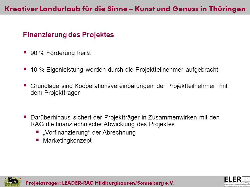 Finanzierung des Projektes