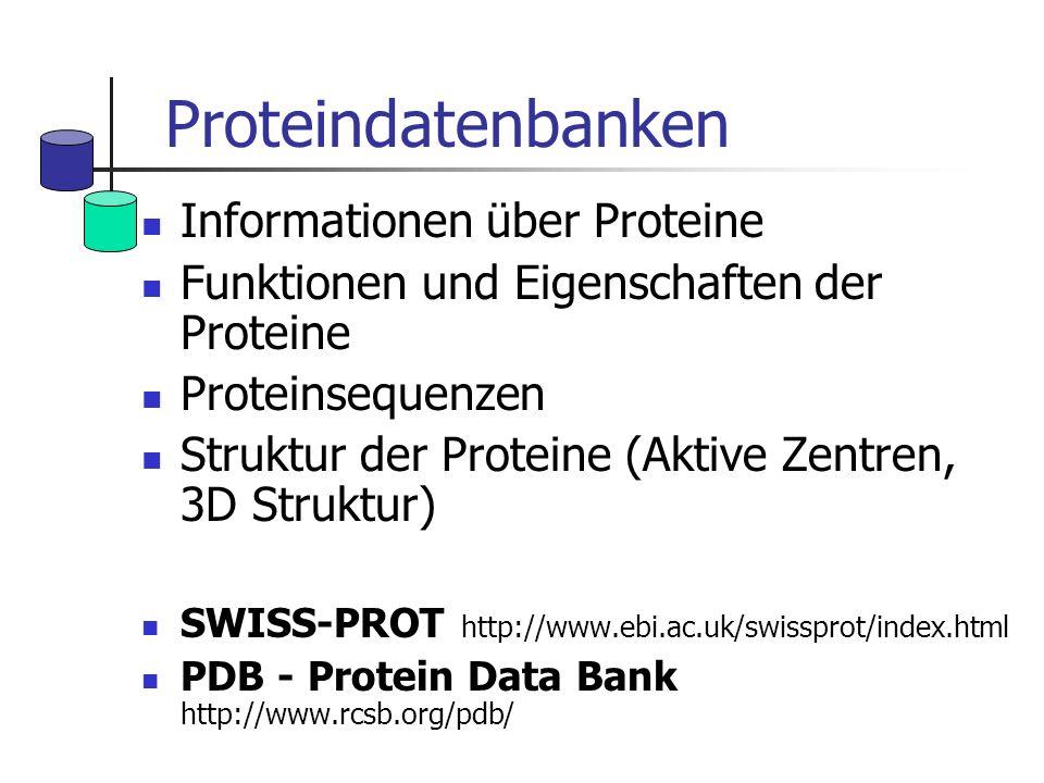 Proteindatenbanken Informationen über Proteine