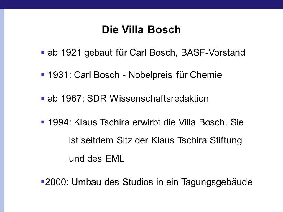 Die Villa Bosch ab 1921 gebaut für Carl Bosch, BASF-Vorstand