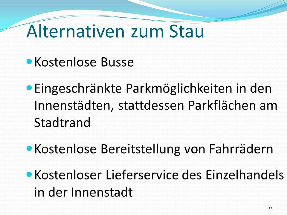Alternativen zum Stau Kostenlose Busse