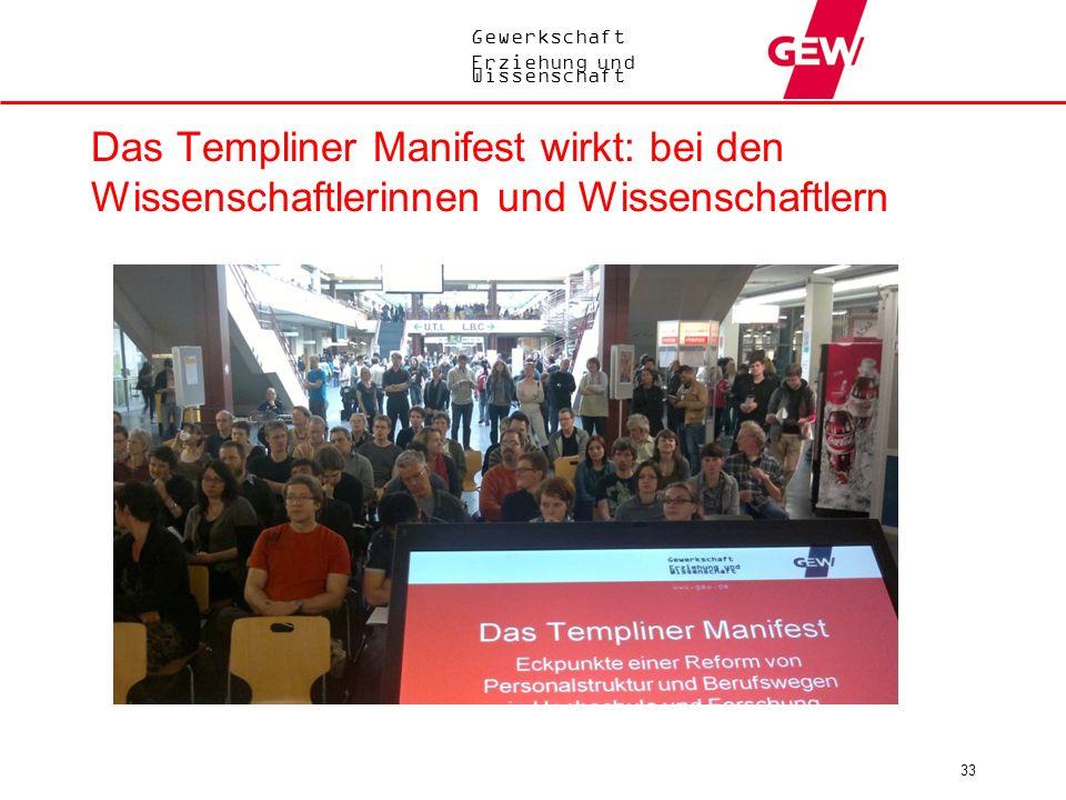 Das Templiner Manifest wirkt: bei den Wissenschaftlerinnen und Wissenschaftlern