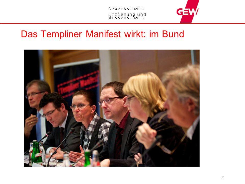 Das Templiner Manifest wirkt: im Bund