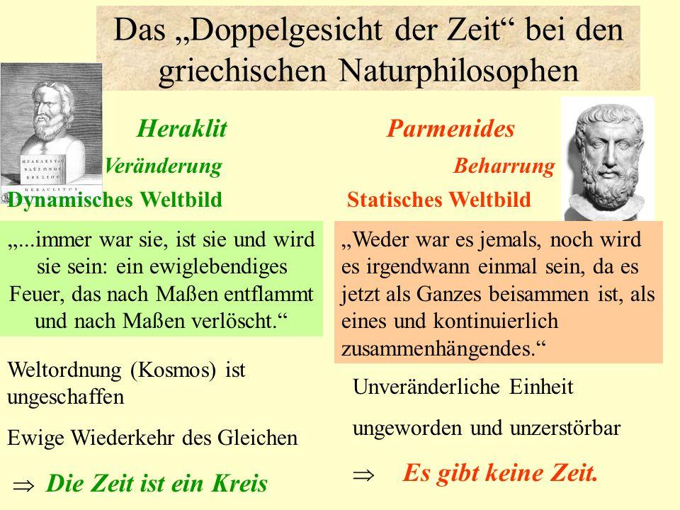 """Das """"Doppelgesicht der Zeit bei den griechischen Naturphilosophen"""