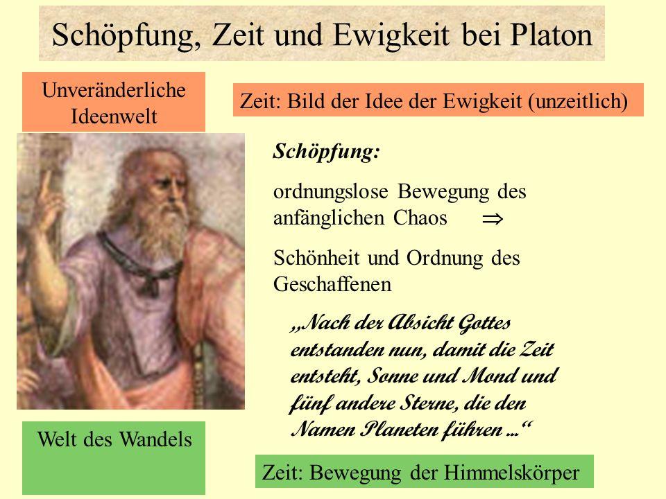 Schöpfung, Zeit und Ewigkeit bei Platon