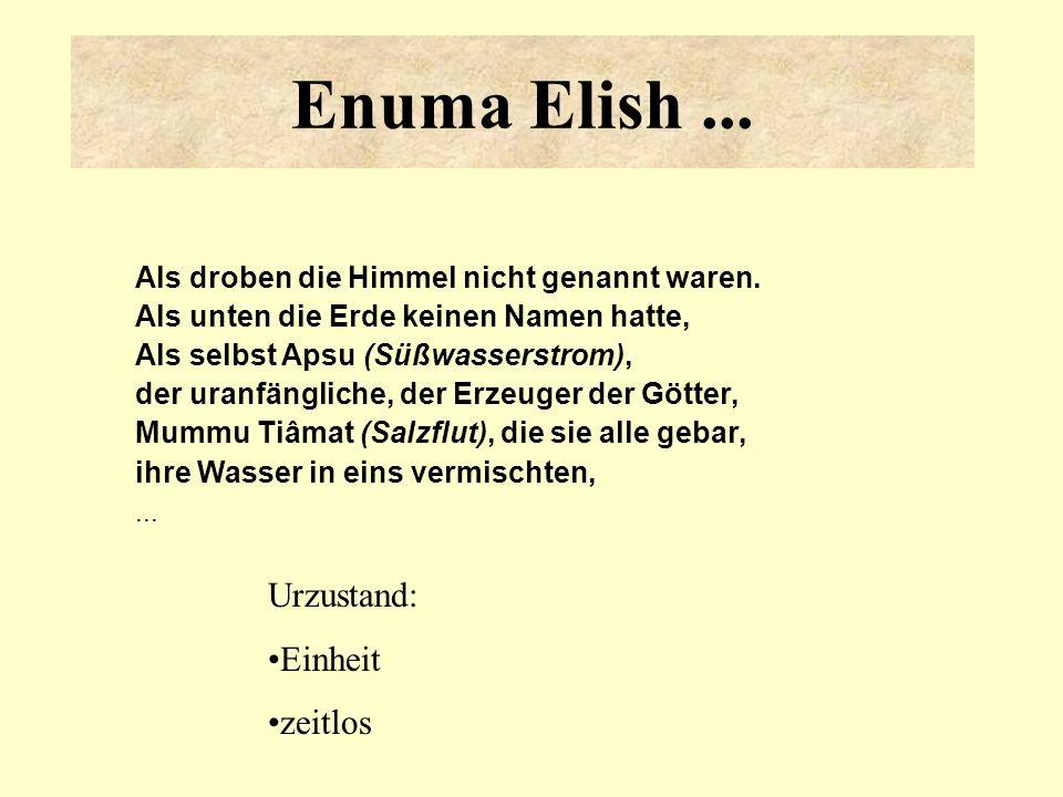 Enuma Elish ... Urzustand: Einheit zeitlos